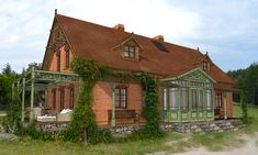 dom z czerwonej cegly i szkla taras - Szukaj w Google