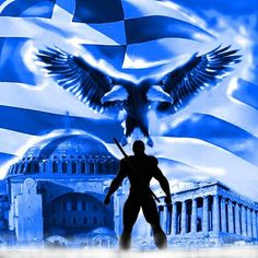 Greek Flag, Greek Warrior, Greek History, Greek Culture, Hagia Sophia, Greek Mythology, Greece Travel, Countries Of The World, Coat Of Arms