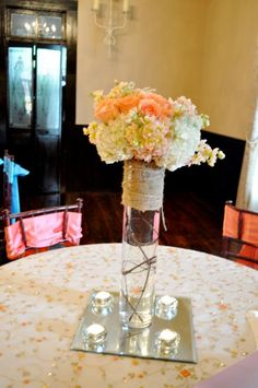 Country Wedding Centerpieces on Pinterest | Black White Weddings ...