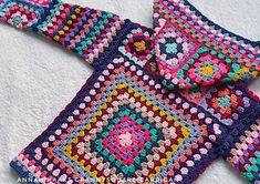 Ravelry: Grannysquare Cardigan pattern by Annah Haakt Crochet Coat, Crochet Winter, Crochet Jacket, Crochet Blouse, Cute Crochet, Crochet Motif, Crochet Clothes, Crochet Stitches, Crochet Hooks