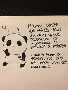 Sad Panda and Valentine's Day