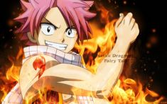 Natsu, he's a little weird, but he's strong, and his scarf is pretty cool.