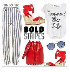 Striped Pants { Top Fashion Sets for May 26th, 2017 } by elli-argyropoulou on Polyvore featuring polyvore moda style Iron Fist Topshop Kenneth Cole Alexander Wang Ray-Ban fashion clothing