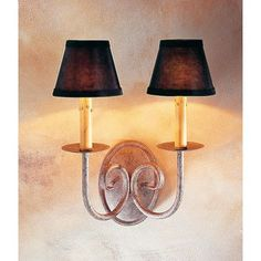 2nd Ave Design Squire 2-Light Wall Sconce Finish: Pompeii Gold Premium, Shade Color: White Parchment