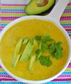 In the Andean zone of Colombia, corn is very popular and we use it in a lot of our recipes. This is a very easy to make ,rich and creamy Corn Soup recipe. Corn Soup Recipes, Lunch Recipes, Healthy Recipes, My Colombian Recipes, Colombian Food, Latin American Food, High Carb Foods, Good Food, Yummy Food
