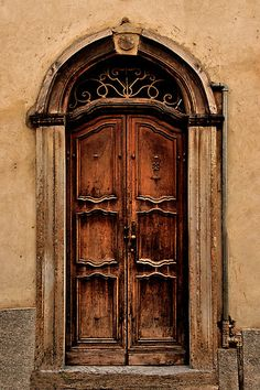 CBP Workation Retreat: Idea for front door. - Old Italian doors and hardware.
