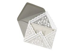 Doily envelope - LOVE!