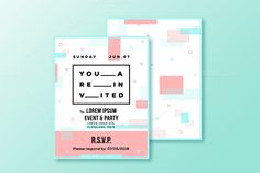 Event or Party Invitation Template by @Graphicsauthor