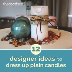 12 Designer Ideas to Dress Up Plain Candles | thegoodstuff
