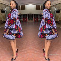 Latest Ankara Styles 2019 For African Ladies To Try Out African Fashion Ankara, Latest African Fashion Dresses, African Print Fashion, African Prints, Trendy Ankara Styles, Ankara Dress Styles, Ankara Gowns, Ankara Blouse, Nigerian Ankara Styles