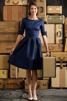 Shabby Apple Nutcracker Dress Blue