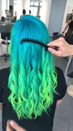 Faded Hair Color, Vivid Hair Color, Gorgeous Hair Color, Hair Color Purple, Hair Color And Cut, Hair Dye Colors, Cool Hair Color, Hair Dye Tips, Dip Dye Hair