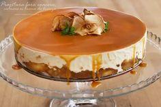 prajitura fara coacere cu mere si crema de branza