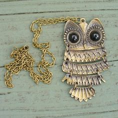 Steampunk goth WISE OWL  Necklace  Victorian by UmbrellaLaboratory, $6.99