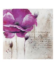 Look at this Purple Flower Wall Art on #zulily today!