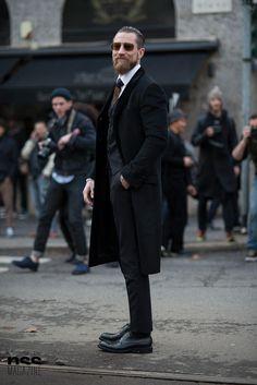 Justin O'Shea Streetstyle in Milan
