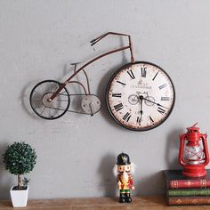 Cheap designer wall clock, Buy Quality wall clock directly from China wall clock design Suppliers: Retro Personality Bike Design Hanging Wall Clock Vintage Creative bicycle Watch Ornaments Cycle Home Decor Bar Decoration