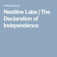 Neatline Labs | The Declaration of Independence