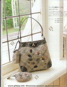 Patchwork_Collection - mimosrosana - Picasa Web Albums Japanese Patchwork, Japanese Bag, Patchwork Bags, Quilted Bag, Handmade Purses, Handmade Handbags, Coin Purse Wallet, Purse Patterns, Fabric Bags
