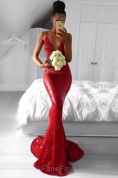 Mermaid Prom Dresses Long, 2019 Long Prom Dresses For Teens, Sexy Prom Dresses V-neck, Tight Prom Dresses Spaghetti Straps Red Formal Dresses, Prom Dresses For Teens, Best Prom Dresses, Prom Dresses Long With Sleeves, Cheap Prom Dresses, Formal Evening Dresses, Ball Dresses, Dress Long, Formal Wear