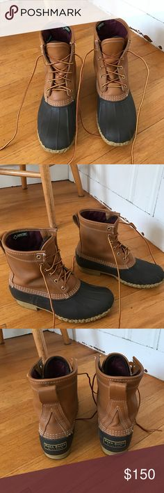 "Women's L.L. Bean boots, 8"" Gore-Tex/Thinsulate Really well kept bean boots with goretex and thinsulate lining, super warm, only slightly used L.L. Bean Shoes Winter & Rain Boots"