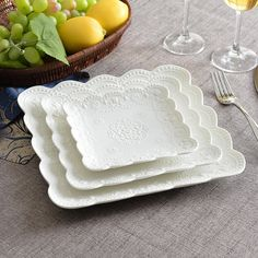 European embossed home China ceramic square plate breakfast dessert plate butterfly plate dish afternoon tea fruit plate wedding Blue Table Settings, Chafing Dishes, Wedding Plates, Fruit Plate, White Dishes, Square Plates, China Plates, Breakfast Dessert, Dinnerware Sets
