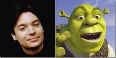 "Mike Myers – Shrek (""Shrek"") Life Moves Pretty Fast, Film Music Books, Cartoon Movies, Shrek, Voice Actor, Cool Cartoons, The Voice, Ferris Bueller, Animation"