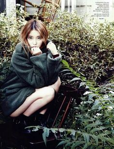 IU for Elle... I want her outfit, particularly the boots.