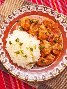 Винен кебап със свинско и ориз