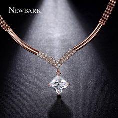 Find More Pendant Necklaces Information about NEWBARK Fine Design Big V Style…