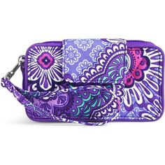 Vera Bradley Smartphone Wristlet for iPhone 6 in Lilac Tapestry ($48) ❤ liked on Polyvore featuring accessories, tech accessories, lilac tapestry, smart phone wristlet, zipper wristlet, vera bradley, smartphone wristlet and iphone wristlet