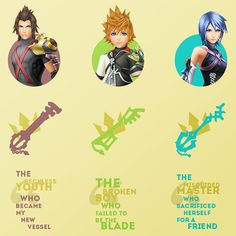 """ Kingdom Hearts Birth by Sleep ♦ Terra, Ventus and Aqua ☇ Inspired by this [+] """