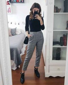Women Casual Jeans Outfit Camo Jeans Blue Pants Outfit Formal Casual For Ladies Ladies Cotton Pants Elastic Waist Casual Spring Outfits 2019 Latest Pakistani Fashion Casual Wear 2019 Casual Work Outfits, Business Casual Outfits, Professional Outfits, Work Attire, Office Outfits, Classy Outfits, Casual Wear, Formal Wear, Men Formal
