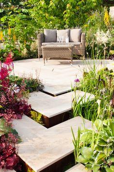 Ethan Mason Paving, Indian Sandstone, Paving slabs, Patio slabs, Garden Garden Design, Smooth Sandstone, Vanilla Sandstone.
