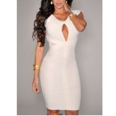 White bandage dress  Evogueclothing.bigcartel.com