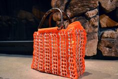 Upcycled Orange Crochet Pop Tab Purse by TiaAnaLuisa on Etsy, $60.00