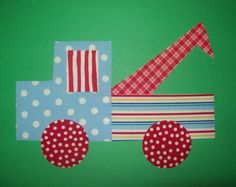 Fabric Applique TEMPLATE ONLY Tow Truck by etsykim on Etsy, $1.50