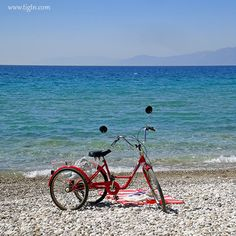 Getting to the beach in style. Plaka Beach in few minutes away from Nafplio Argo, Beaches, Greece, Travel, Style, Viajes, Destinations, Traveling