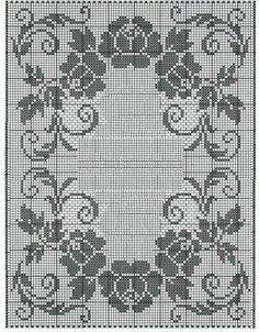 filet crochet Kira scheme crochet: Scheme crochet no. Filet Crochet Charts, Crochet Diagram, Crochet Motif, Cross Stitch Borders, Cross Stitch Designs, Cross Stitch Patterns, Doily Patterns, Embroidery Patterns, Crochet Patterns