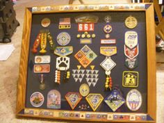 Great way to display Cub Scout awards after boys have bridged to Boy Scouts.