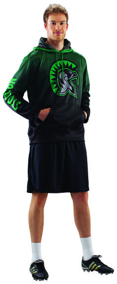 Fully sublimated soccer hoodie. Customize with your colors and logos for any team. Great team warm up or for any soccer fans. Also available as a zip up.