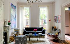 Mike D in Brooklyn - Slide Show - NYTimes.com. Pouf by Missoni for Target (US). Chair by Patricia Urquiola. Lamp by David Weeks.