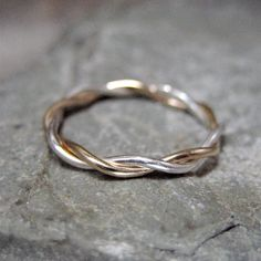 14k Yellow Gold and Silver Ring