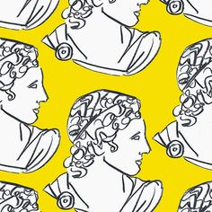 """""""Apollo"""" by Luke Edward Hall Line Drawing, Drawing Sketches, Art Drawings, Graphic Design Illustration, Illustration Art, Illustrations, Mellow Yellow, Artist Art, Art Inspo"""