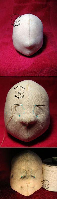 Utjazhki textile hinge head doll, a very good MC (from the Internet) / World toys / Various handmade toys