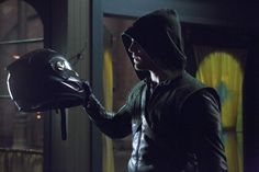 """Arrow -- """"Muse of Fire"""" -- Image AR107b_0447b -- Pictured: Stephen Amell as Arrow -- Photo: Jack Rowand/The CW -- ©2012 The CW Network. All Rights Reserved"""