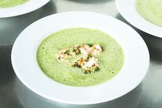 Spinach and salmon soup