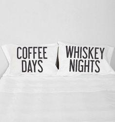 Coffee & Whiskey Pillow Case Set