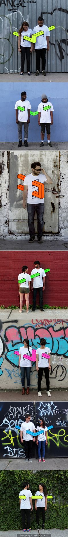 People Skewered with Geometric Shapes by Aakash Nihalani 서있는 사진, 하트