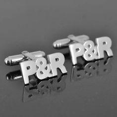 3 Initial Sterling Silver Cufflinks